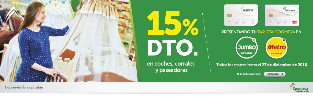 15% dcto - Jumbo y Metro