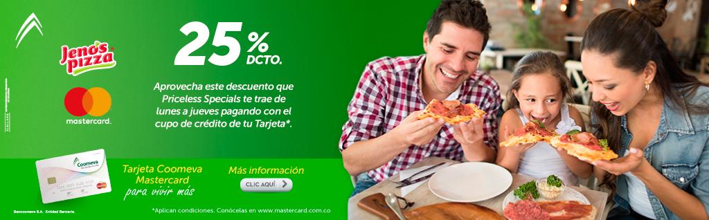 25% dcto en Jennos Pizza