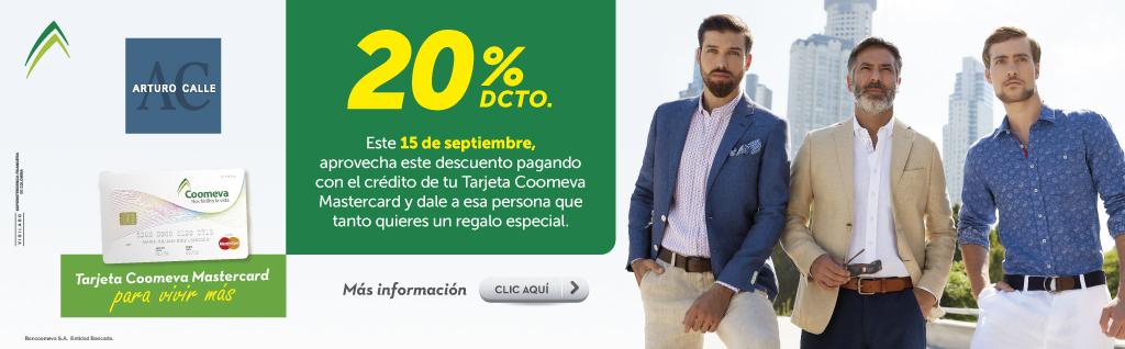 20% de descuento en Arturo Calle