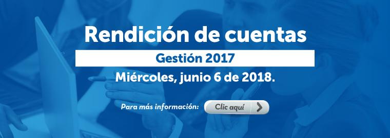 Rendición de cuentas gestión 2017