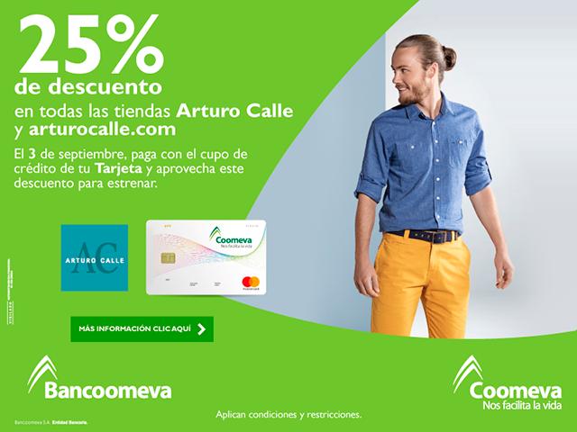 25% de descuento en Arturo Calle