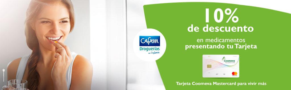 10% de dcto en las droguerías CAFAM