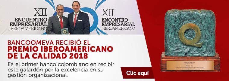 Bancoomeva recibió el premio iberoamericano de calidad 2018