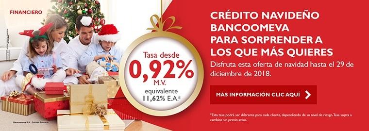 Crédito Navideño Bancoomeva