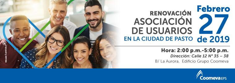 Renovación asociación de usuarios PAsto