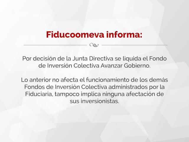 Liquidción Fondo de Inversión Colectiva Avanzar Gobierno