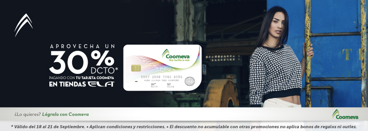 -30% en ELA con tu Tarjeta Coomeva